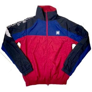 Adidas Red Blue Full Zip Up Jacket